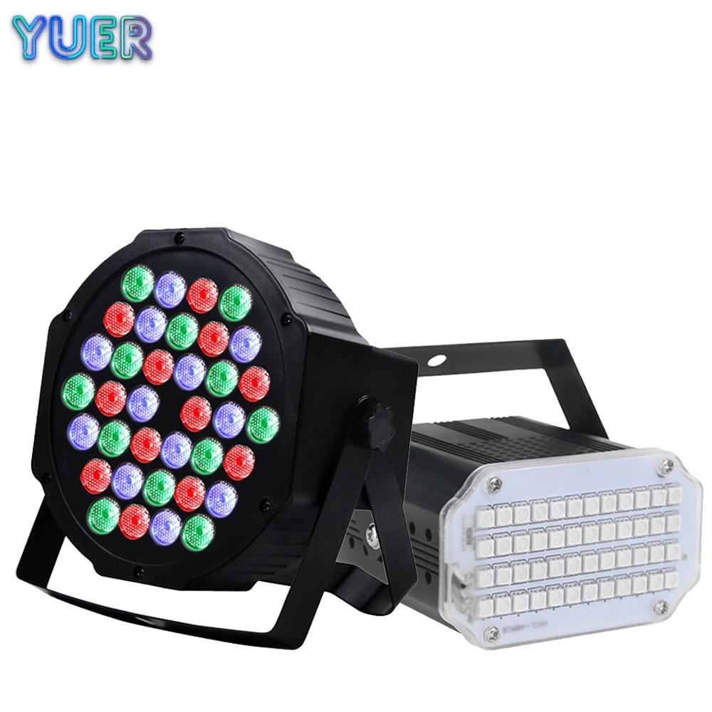 Портативный RGB стробоскосветильник 35 Вт с 48 светодиодами, стробоскоп с дистанционным управлением музыкой и звуковым управлением для сцены, дискотеки, бара, вечеринки, клуба, лазерсветильник прожектор Par