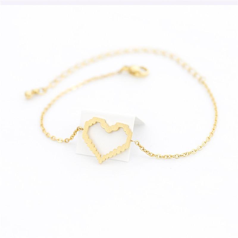 Pulseras de corazón para Mujer y niña, joyería de amor, cadena de...