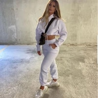 new womens casual fashion sports street two piece set fashion casual loose fitness suits 2021 long sleeve homewear pant sets