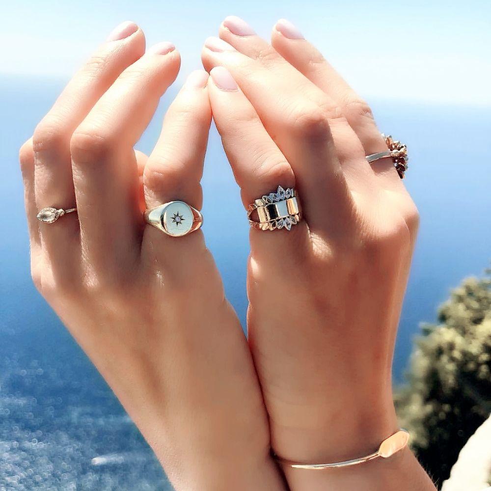 Женское кольцо с фианитом, изящное кольцо золотого цвета с фианитом в форме звезды, Ювелирное Украшение для помолвки и свадьбы, 2021