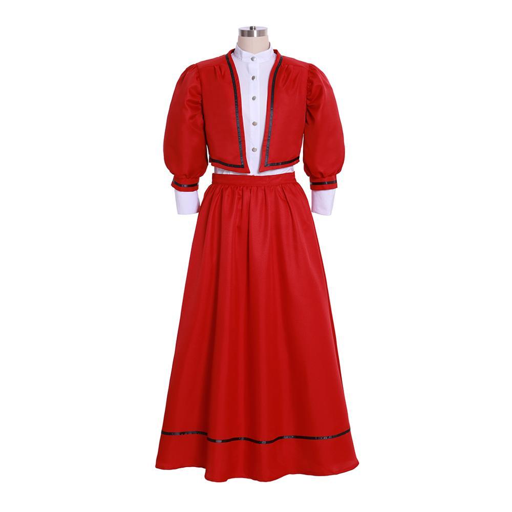 Cosplaydiy mujeres Edwardian Cosplay traje adulto victoriano Edwardian señoras traje L320