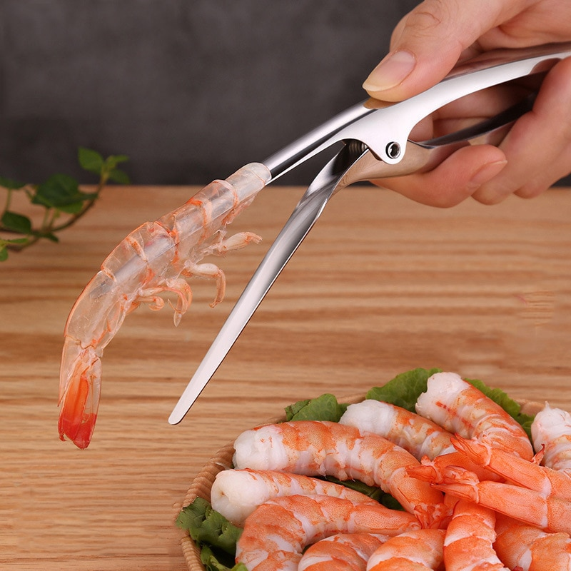 Stainless Steel Shrimp Peeler Lobster Peel Prawns Utensils And Gadgets Shrimp Line Remove Open Shell Convenient Seafood Tools