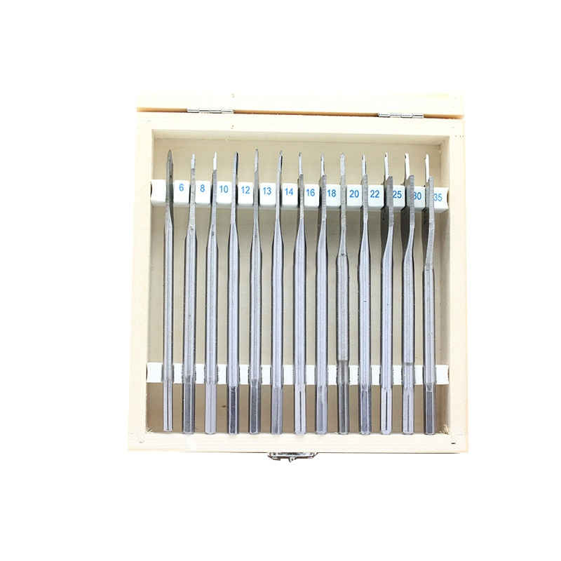 13 piece set of 6 * 8 * 10 * 12 * 13 * 14 * 16 * 18 * 20 * 22 * 25 * 30 * 35 woodworking bit hole opener flat bit enlarge