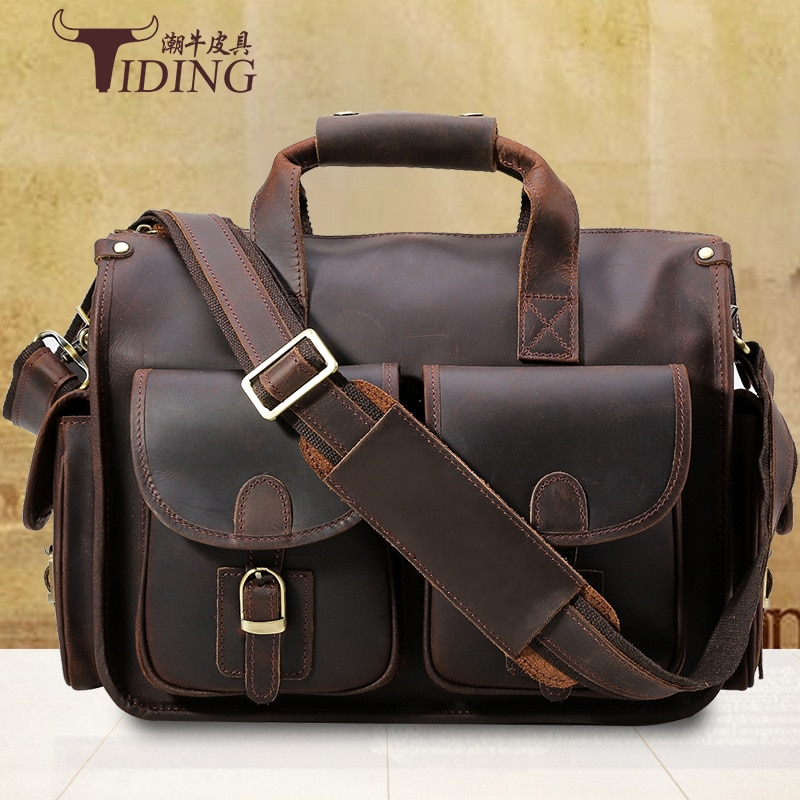 Briefcase For Man Cow Leather 14