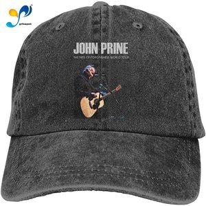 John Prine Tour Adult Cowboy Hat Cotton Adjustable Casquette Cap Black