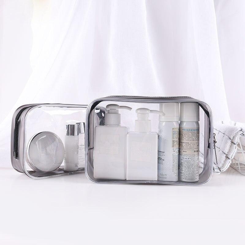Модные прозрачные дорожные косметички из ПВХ для женщин, функциональный Органайзер на молнии для косметики, чехол для туалетных принадлежн...