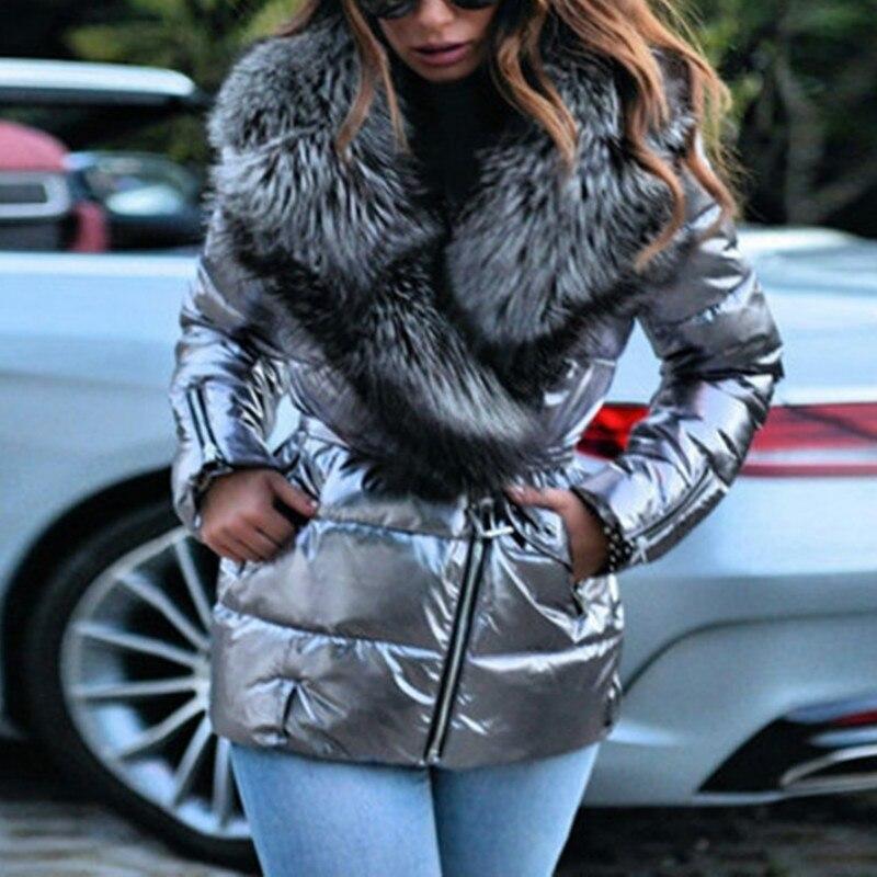 Высококачественные женские куртки, улучшенные куртки с меховым воротником и капюшоном, плотные и теплые короткие куртки большого размера