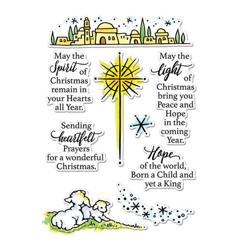 Espírito luz esperança de coração natal claro silicone selos para diy scrapbooking foto álbum cartões fazendo decoração 2019 novos selos
