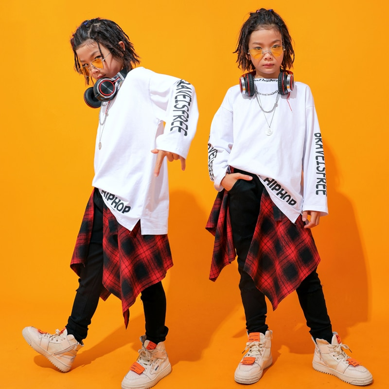 Fashion Jazz Dance Costumes Boys Hiphop Stage Outfits Children Street Dance Performance Clothing Pra