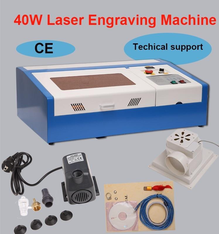 Laser Engraving Cutting Machine  CO2 Laser Engraver USB 40W for Wood Acrylic 110V/220V недорого