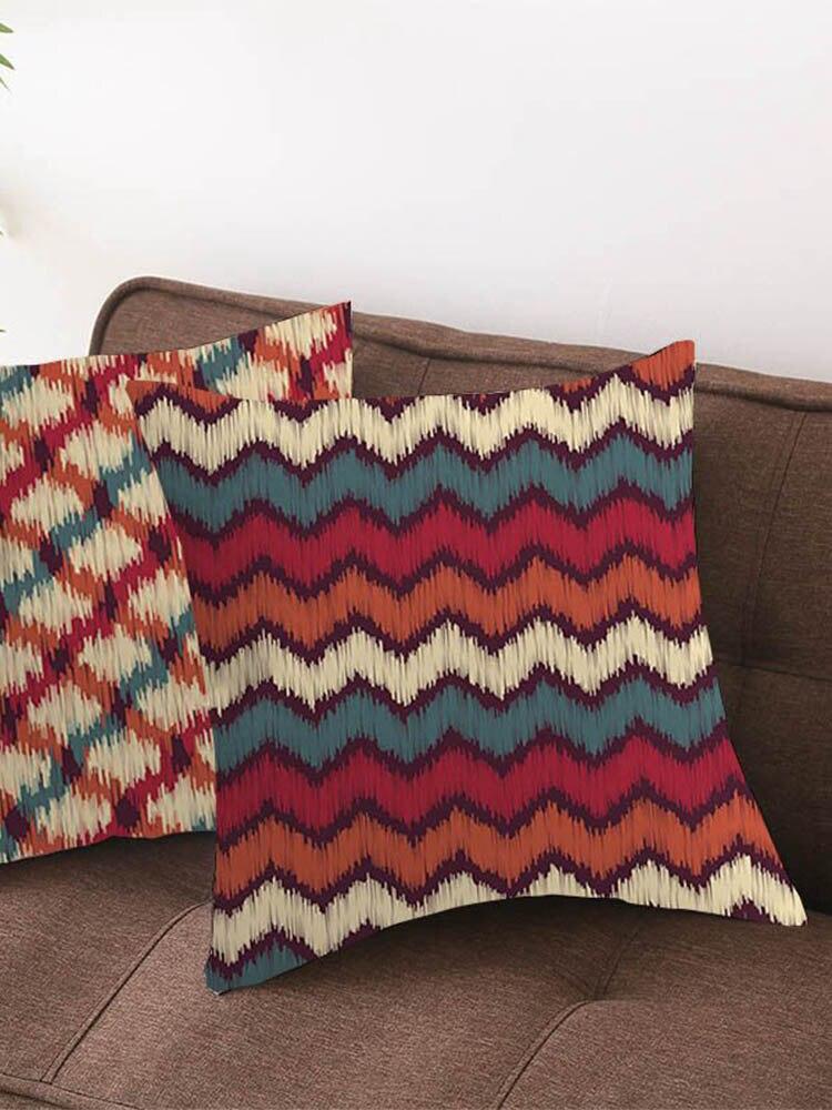Funda de almohada de doble cara Simple de Navidad de Color cálido rojo y naranja para Navidad decoración del sofá del hogar