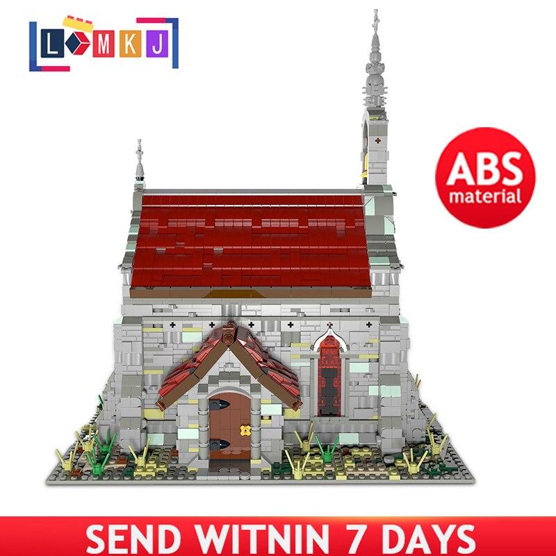 Знаменитый средневековый собор, строительные блоки, модель дома, кирпичи, игрушки для детей, Рождество, игрушки «сделай сам», детское творче...