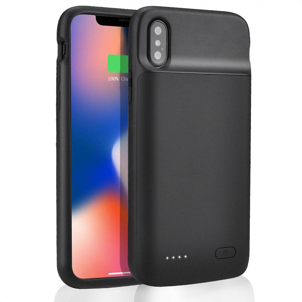 ¡Producto en oferta! Funda para cargador de batería, 5000mah para iPhone X Xs Max, cargador de batería, nuevo banco de energía de 4100mah para iPhone X Xs