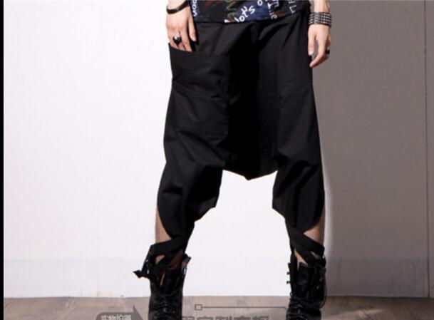 Korean version of the trendy men's harem pants casual cropped pants hairdresser loose hip hop pants singer costumes trousers