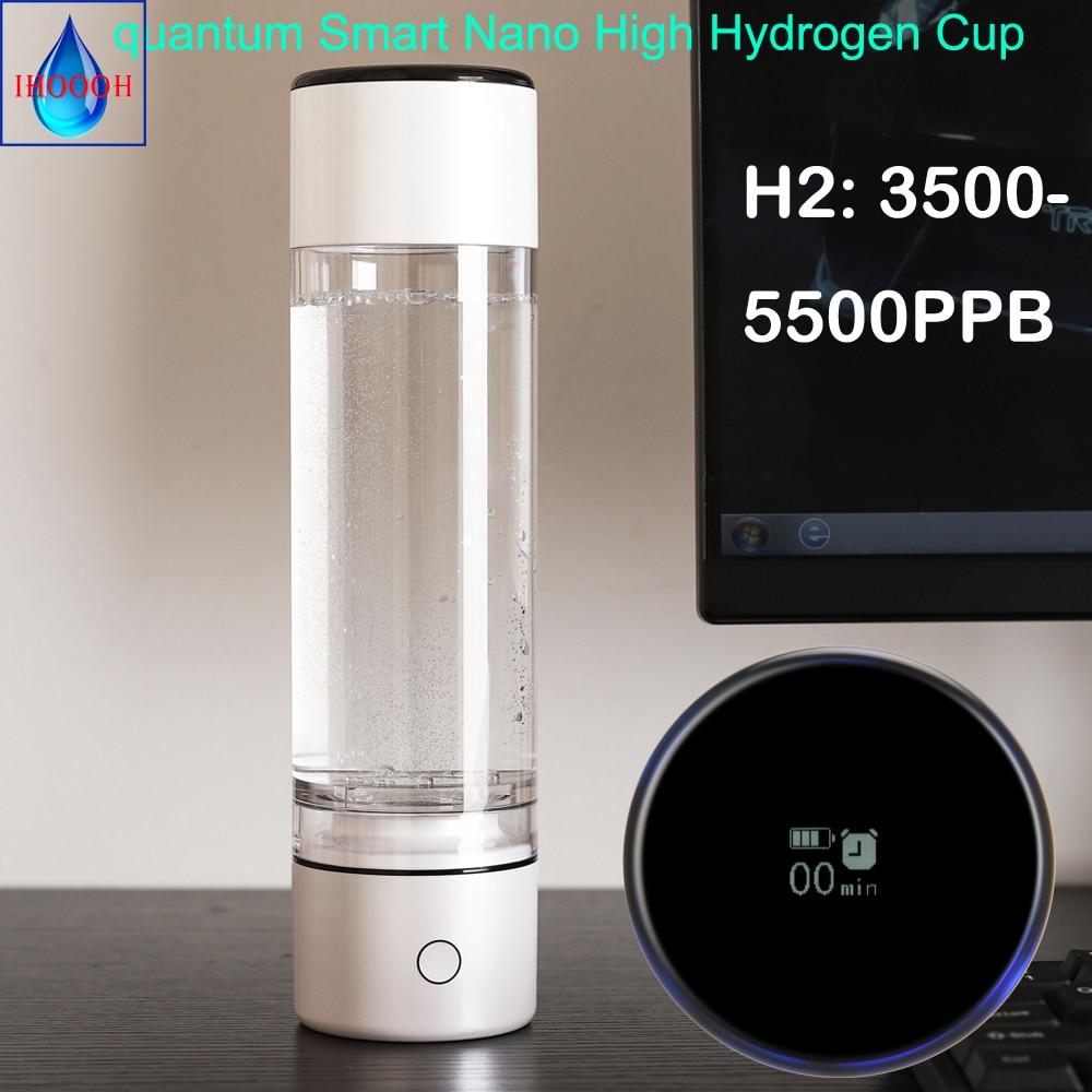 5000PPB كوانتوم الذكية MRETOH الرنين الجزيئي نانو عالية الهيدروجين الغنية زجاجة ماء مولد SPE ORP القلوية المؤين كوب