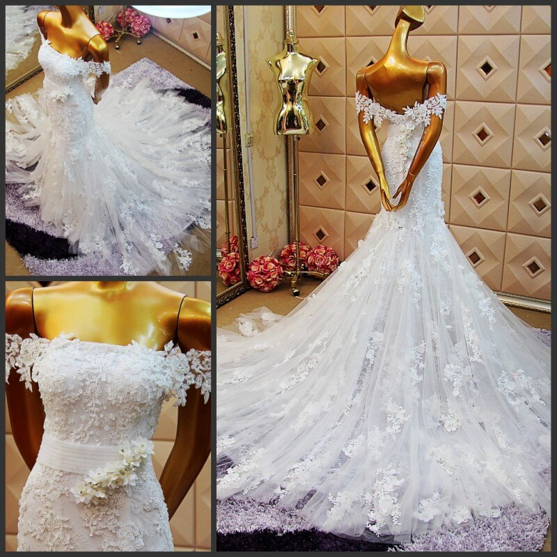 free shipping boat neck lace mermaid 2018 sexy custom cap sleeve vestido de noiva appliques beading mother of the bride dresses