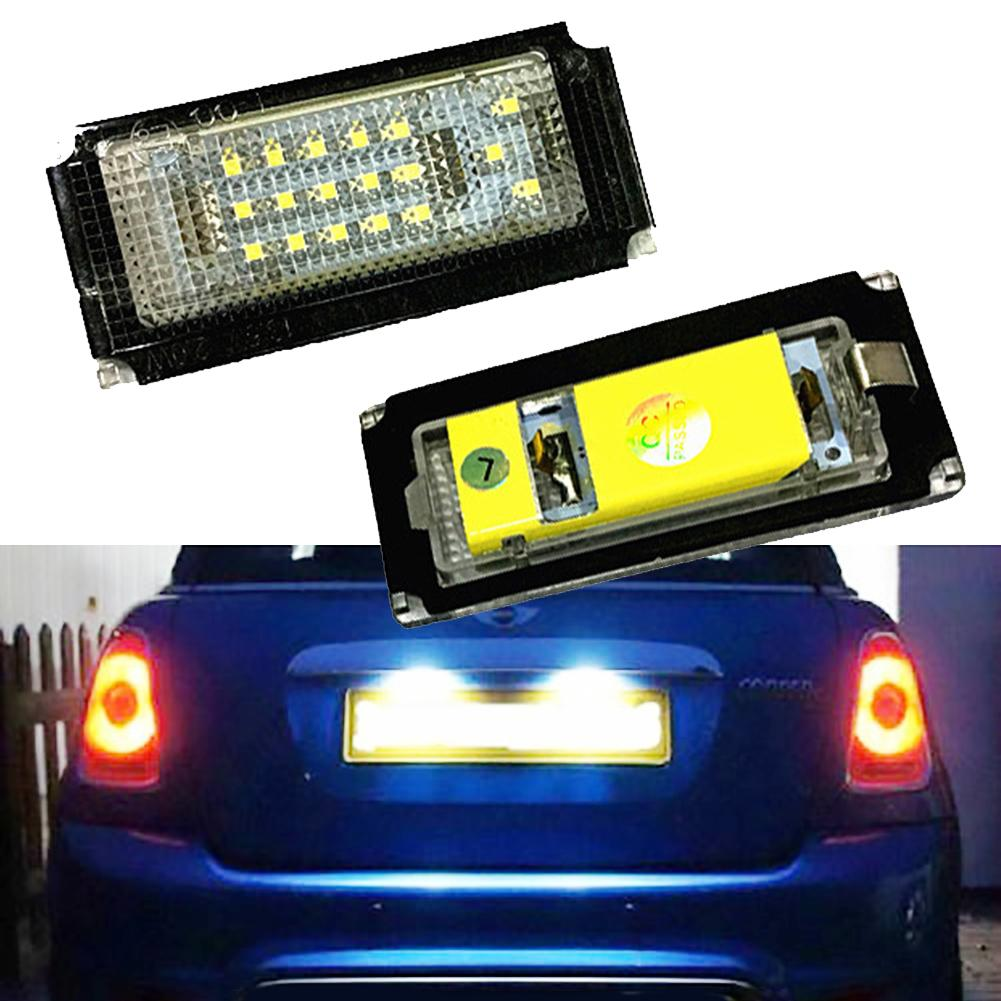 2Pcs Car Mini LED Licenses Plate Light Lamp for B-MW Mini Cooper R50 R52 R53 2019