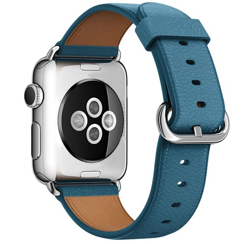 strap for apple watch 6 band 44mm 40mm 42mm 38mm leather replacement strap for iwatch apple se series 6 5 4 3 2 1 bracelet Leather Strap For Apple Watch Band 44mm 42mm Watchband Iwatch 38mm 40mm SE 6/5/4/3/2/1 Sport Bracelet Buckle Apple watch 6 5 4 3