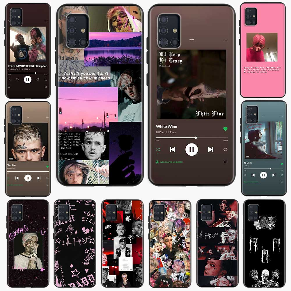 Lil Peep Silicone Caixa Do Telefone Para Samsung Galaxy A51 A71 A50 A21s A10 A20e A30 A40 A70 A31 A41 A02s A12 Funda TPU Macio Tampa Traseira