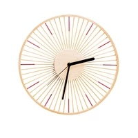 japanese style wall clock living room ornaments mute wall hanging clock pastoral bamboo wooden duvar saati home decor wt5bgz