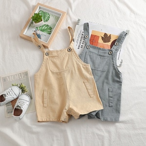 Baby Girls Jumpsuits Shorts 2020 Summer Korean Casual Pocket Shorts Overalls for Boy Fashion Toddler Kids Shorts Children Pants