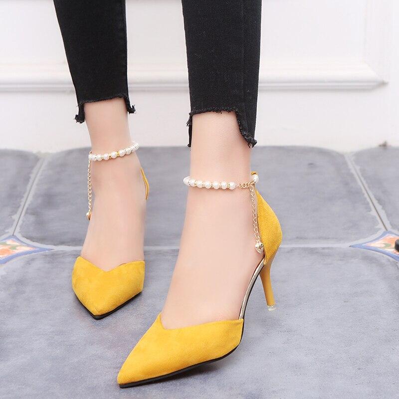 Zapatos mujer moda Sexy hueco con sandalias verano versión coreana zapatos transpirables mujeres bombas de tacón alto boda