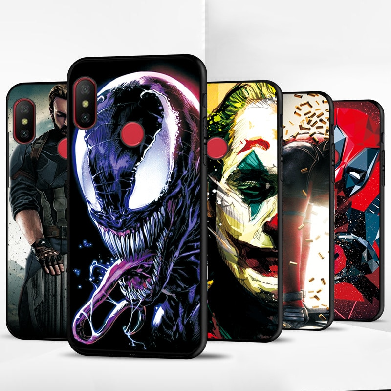 Funda de teléfono Venom Joker para Xiaomi mi A2, funda para Xiaomi mi A1 A2 mi A3 Lite mi 5X mi 6X, fundas negras de TPU para Xiaomi CC9E