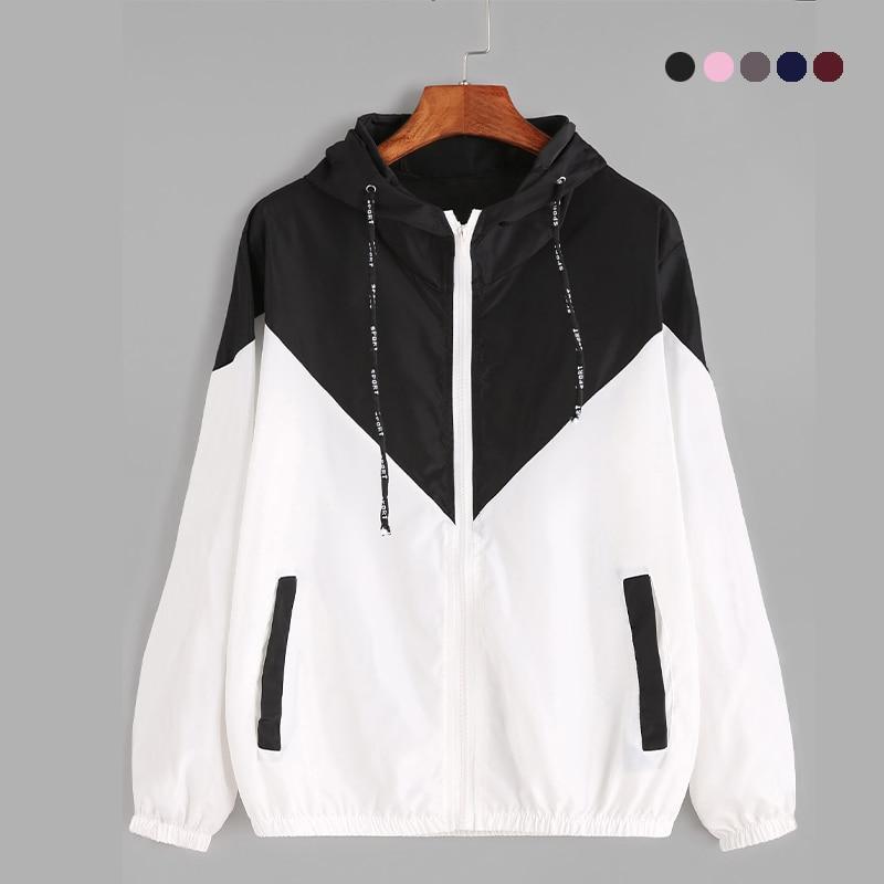 Chaqueta S-XL de manga larga para correr para mujer, fina ropa deportiva para gimnasio, chaqueta con capucha entretejida, chaqueta deportiva con cremallera para exteriores en 4 colores