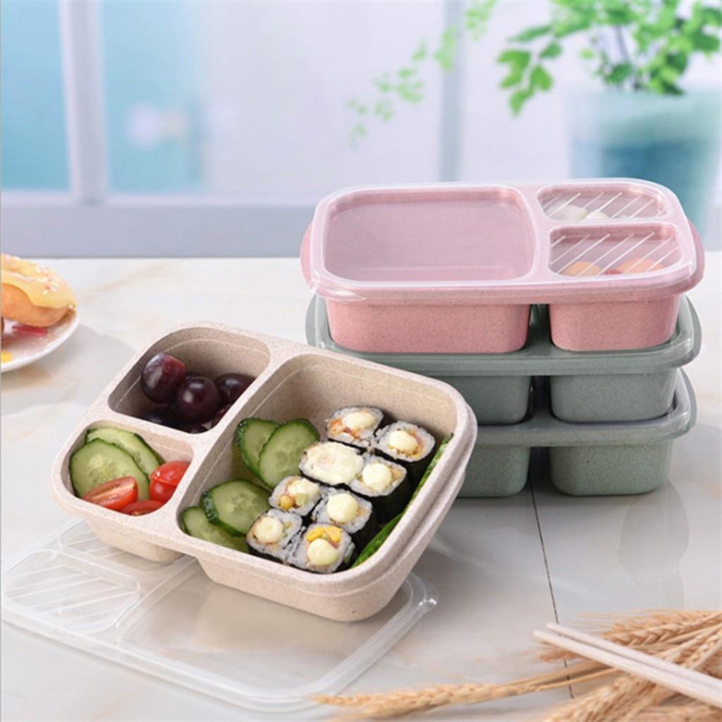 Microondas caja de almuerzo Bento Picnic comida recipientes contenedores de fruta caja para niños adultos caso contenedor cena organizador #10