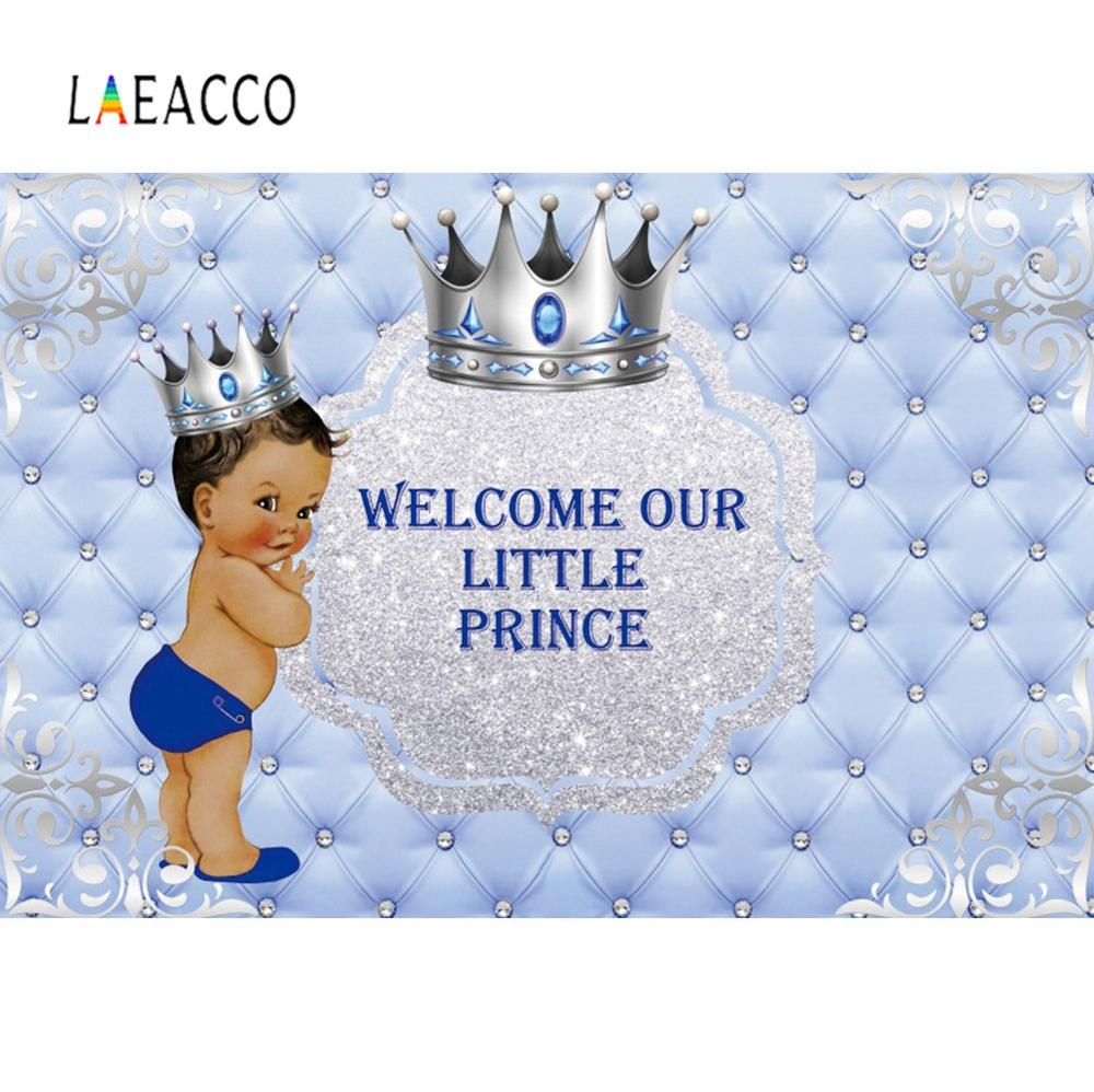 Princess Or Prince Backdrops For Photography Headboard Golden Angle Wings Customized Banner Birthday Party Photo Backgrounds