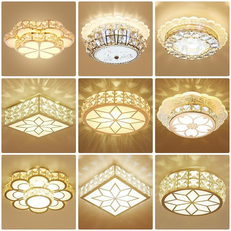 europeu estilo moderno lampada do teto de cristal redonda para o quarto lampada sala