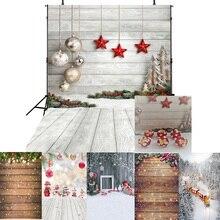 Hiver neige photo toile de fond noël photographie arrière-plan joyeux noël photo stand accessoires tissu vinyle décors bois pour les enfants