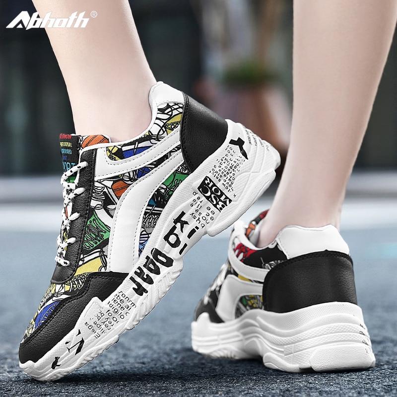 Abhoth Men Shoes Sneakers Breathable Light Mesh Shoes Men Casual Shoes Graffiti Summer Couple Shoes