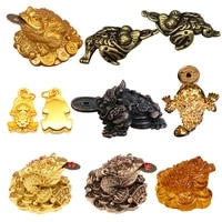 feng shui ornaments for home office decoration tabletop feng shui toad money chinese gold frog toad craft gift