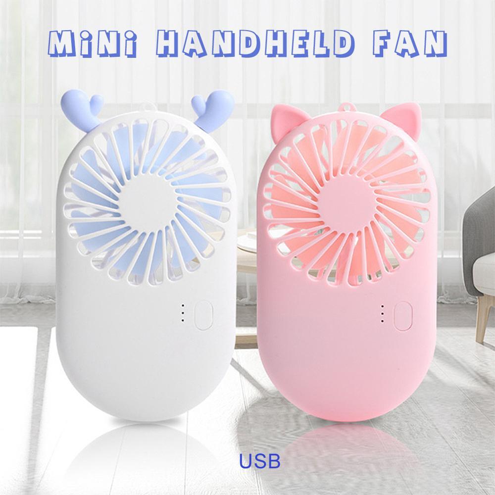 Мини-вентилятор Карманный перезаряжаемый с USB, портативный охлаждающий мини-воздухоохладитель для путешествий с охлаждением, с USB-зарядкой