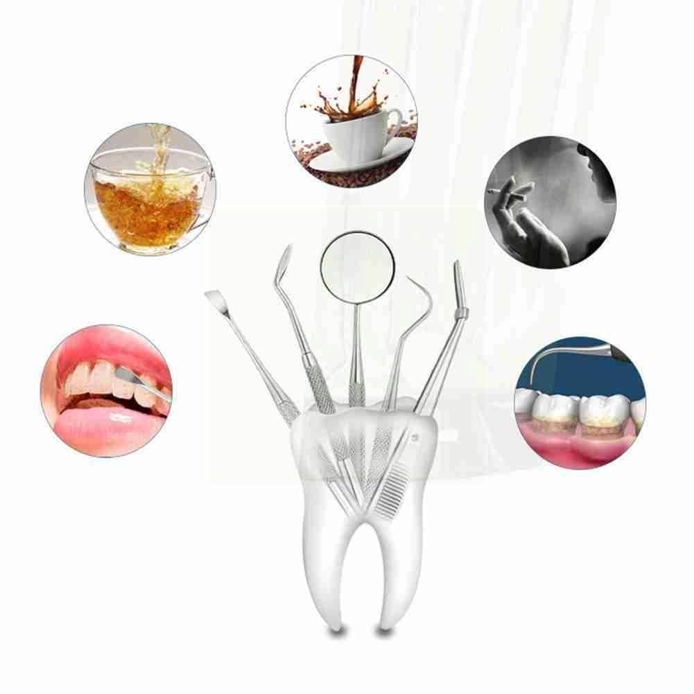 Dental Mirror Steel Dental Dentist Prepared Tool Set Care Sickle Tooth Hoe Instrument Probe Tweezer Kit U2a8 недорого