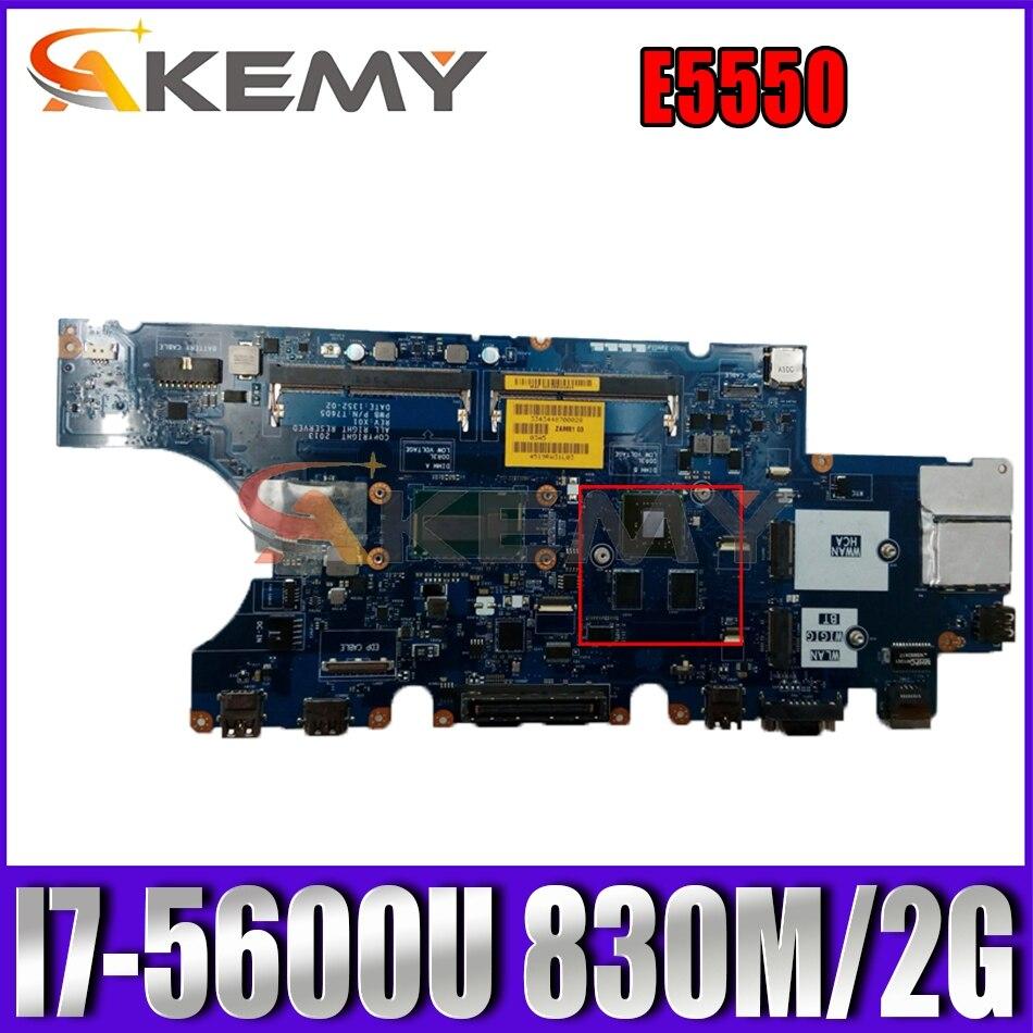 Akemy جديد LA-A913P لديل خط العرض E5550 اللوحة I7-5600U CN-0DWVYV DWVYV T76D5 اللوحة الرئيسية 100% اختبارها