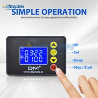 AC 110-220V DC 12V 24V 1.37 inch LCD Digital Display Microcomputer Time Controller Timer 00:00-99:59 0000-9999S Control Module