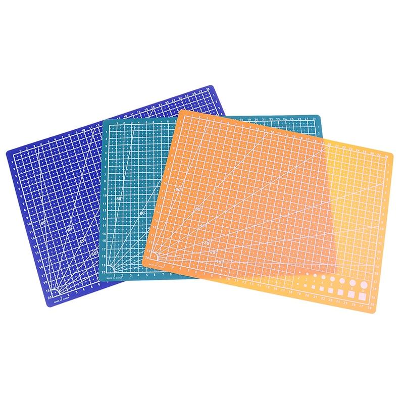 Venda quente 1 pc 30*22cm a4 grade linhas auto cura tapete de corte artesanato cartão tecido couro placa papel ferramentas costura