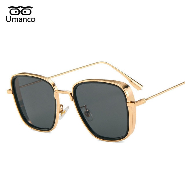 Umanco 2021 Steampunk Cool Kabir Square Sunglasses For Women Men Alloy Frame AC Lens Designer Brand Beach Travel Shade Gifts 6
