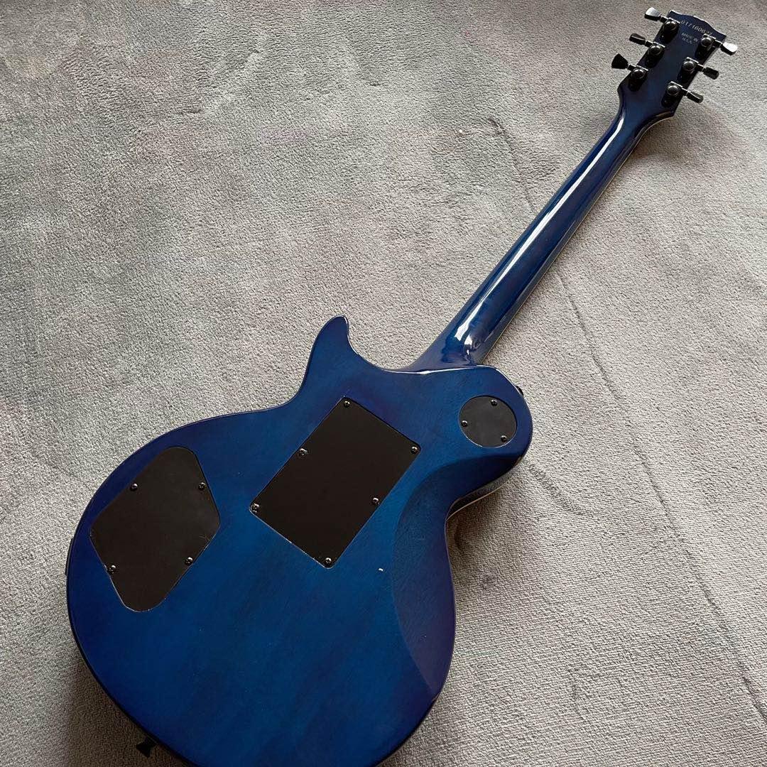 Custom shop.Electric Guitar.Blue color flame.Ebony fingerboard.Mahogany body.high quality 6 stings guitarra enlarge