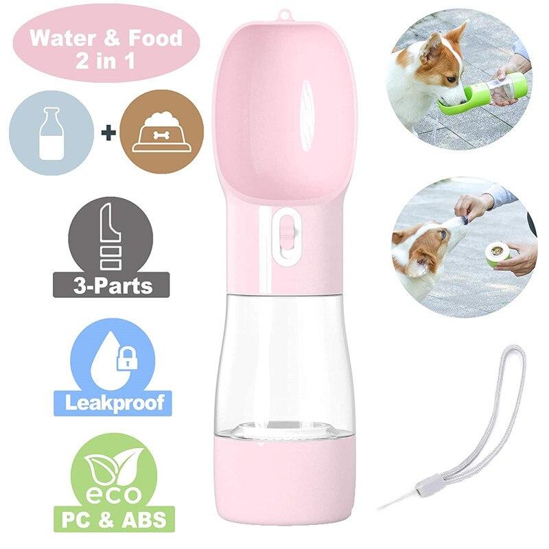 Портативная бутылка для воды для домашних собак, для маленьких и больших собак, для путешествий, для щенков, кошек, поилка, диспенсер для ули...