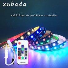 WS2812B LED Streifen ith 14 Keys RF Wireless Remote Controller Kit Einzeln Adressierbaren Smart RGB Led Streifen Wasserdicht