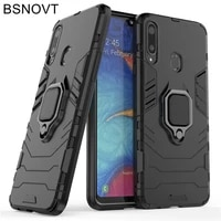 for samsung galaxy a20s case magnetic armor finger ring shockproof hard case for samsung galaxy a20s cover for samsung a20s case