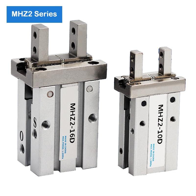 MHZ2-10D/16D/20D/25D/32D/40D pinza robótica neumática dedo cilindro angular estilo doble acción pinza de aire estándar