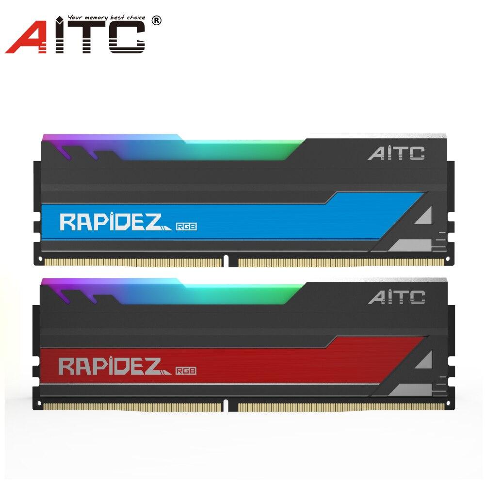 AITC ddr4 2666MHz 8Gbx 2 ذاكرة عشوائيّة للحاسوب المكتبي ذاكرة الوصول العشوائي مع RGB LED