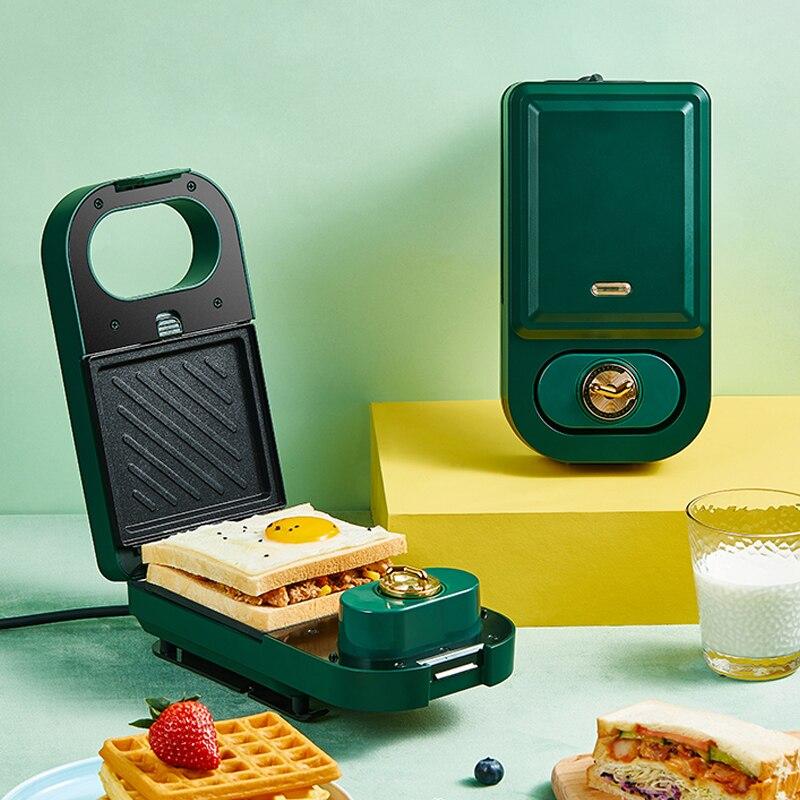Máquina Eléctrica multifunción para hacer waffles con temporizador, 220V, tostadora para hornear,...