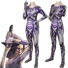 Super-héros Alita bataille ange Cosplay Costume Zentai body combinaisons Halloween