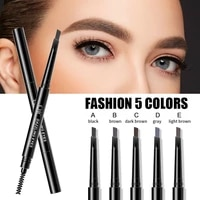 5 colors eyebrow pencil natural waterproof no blooming rotating automatic eye brow pencil with brush brown beauty cosmetic tool
