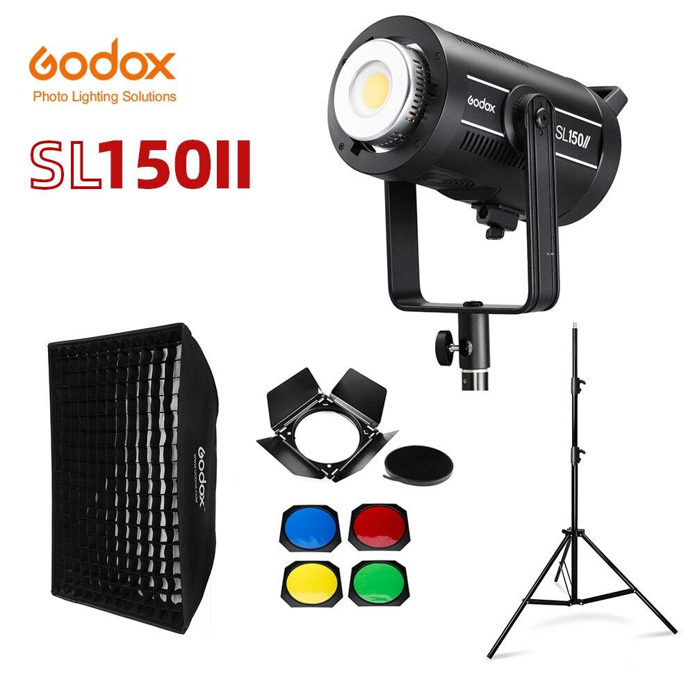 Godox SL150II SL-150W II LED فيديو ضوء 150W بوينس جبل النهار المتوازن 5600K 2.4G اللاسلكية X Systemfor مقابلة